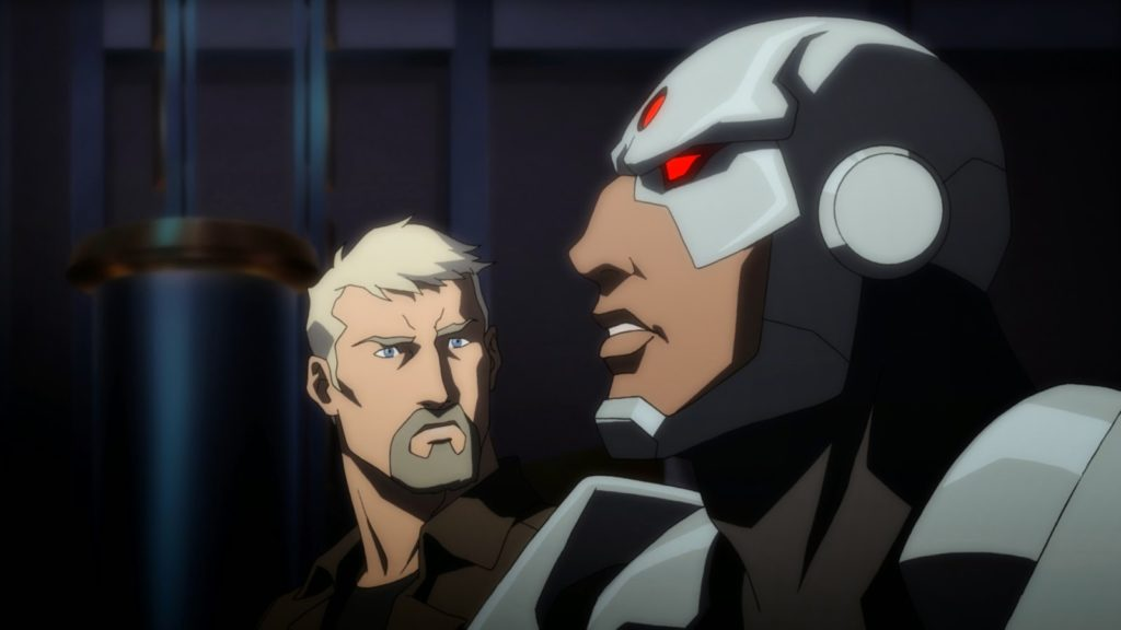 First Clip From JUSTICE LEAGUE: THRONE OF ATLANTIS Features Cyborg And Steve Trevor